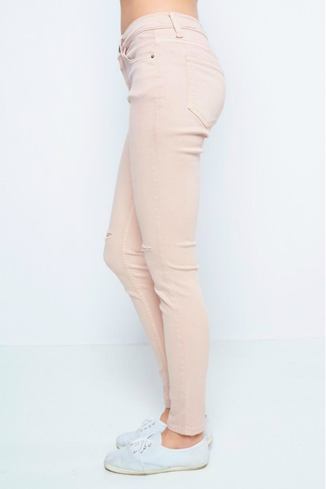 Sneak Peek Blush Skinny Jean - Side Cropped Image