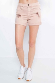 Sneak Peek Boyfriend Shorts - Front cropped