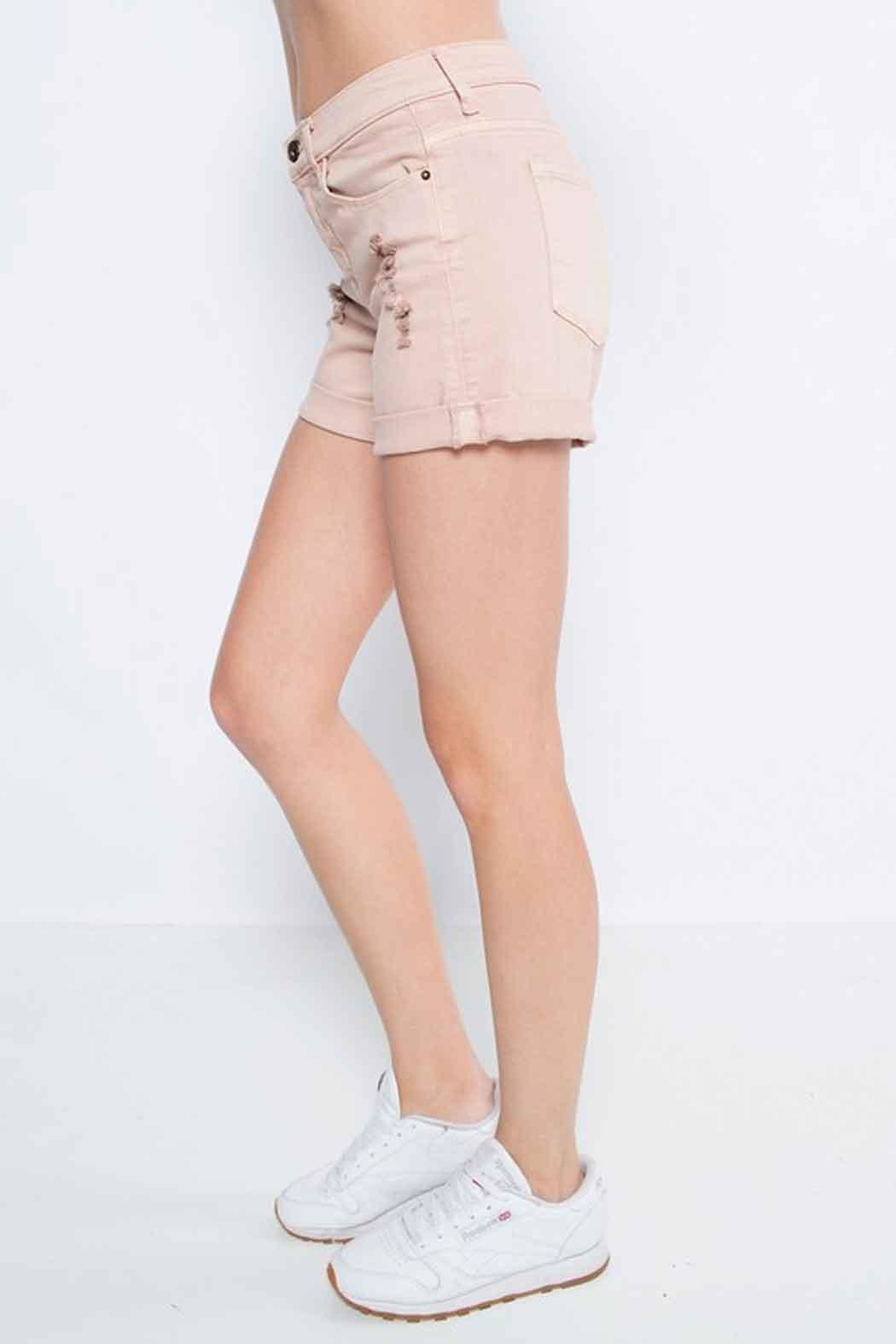 Sneak Peek Boyfriend Shorts - Front Full Image