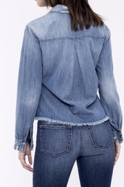 Sneak Peek Cropped Denim Shirt - Front full body