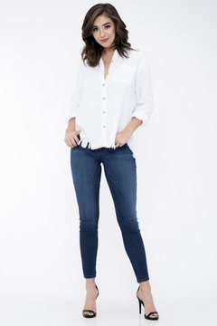 Sneak Peek Dark Wash Comfy Jeans - Product List Image