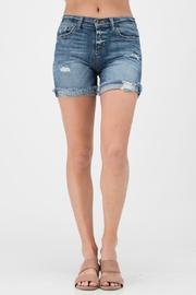 Sneak Peek Denim Boyfriend Shorts - Product Mini Image