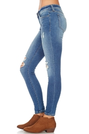 Sneak Peek Distressed Ankle Jean - Side cropped