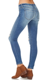 Sneak Peek Distressed Ankle Jean - Back cropped