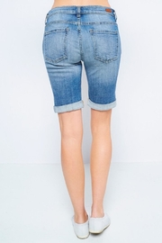 Sneak Peek Distressed Bermuda Shorts - Back cropped