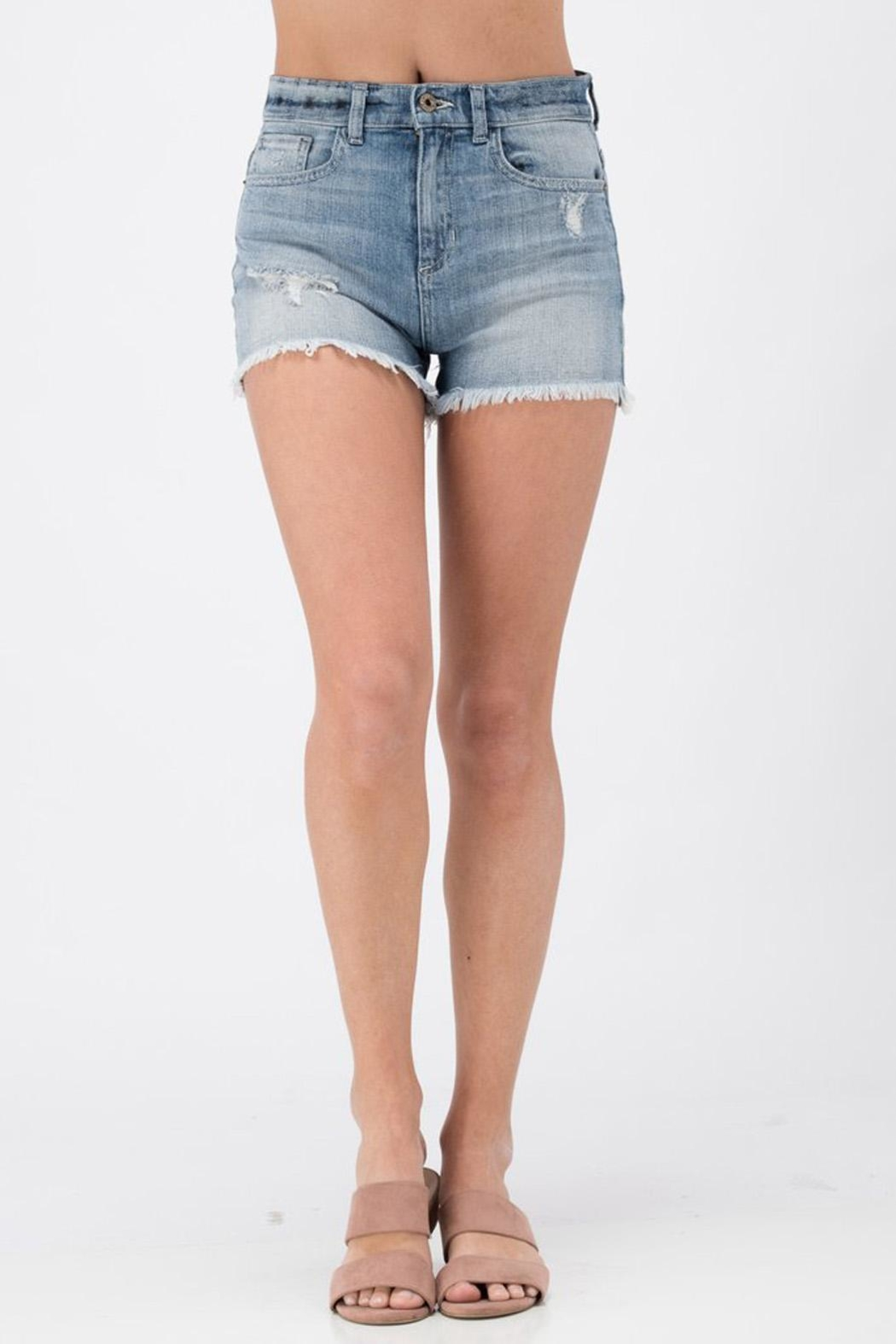 Sneak Peek Distressed Cut-Off Short - Main Image