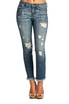 Sneak Peek Distressed Frayed Jeans - Product List Image