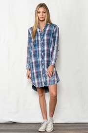 Sneak Peek Flannel Shirt Dress - Product Mini Image