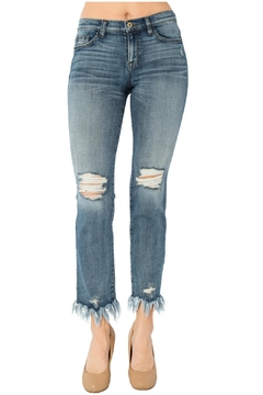 Shoptiques Product: Fray Bottom Jeans