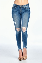 Sneak Peek Front Frayed Denim - Product Mini Image