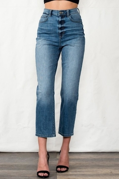 Sneak Peek High Rise Crop Mom Jean - Product List Image