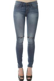 Sneak Peek Knee Slit Denim Jeans - Product Mini Image