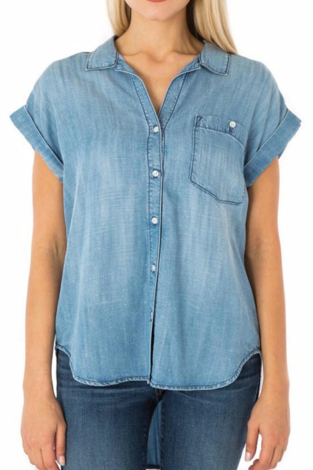 Sneak peek milly chambray top from florida by goldfinch for Chambray top