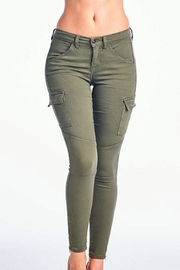 Sneak Peek Olive Cargo Skinnies - Product Mini Image