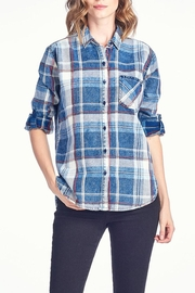 Sneak Peek Plaid Denim Top - Product Mini Image