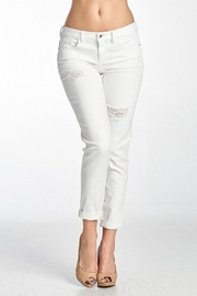 Sneak Peek Sexy Boyfriend Jeans-White - Product Mini Image