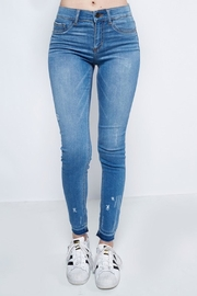 Sneak Peek Skinny Unfinished Jean - Front cropped