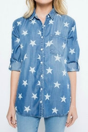 Sneak Peek Stars Denim Shirt - Product Mini Image
