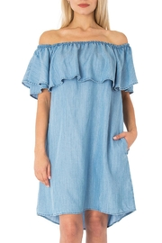 Sneak Peek Tencel Ruffle Dress - Product Mini Image