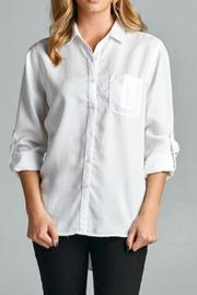 Sneak Peek White Button Down - Product Mini Image