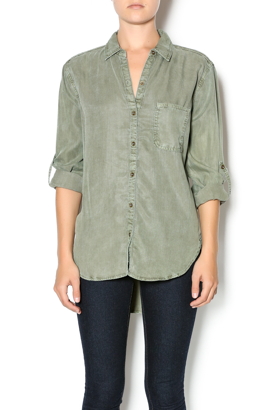SneekPeak Olive Button Down Shirt from Miami by Allie & Chica ...
