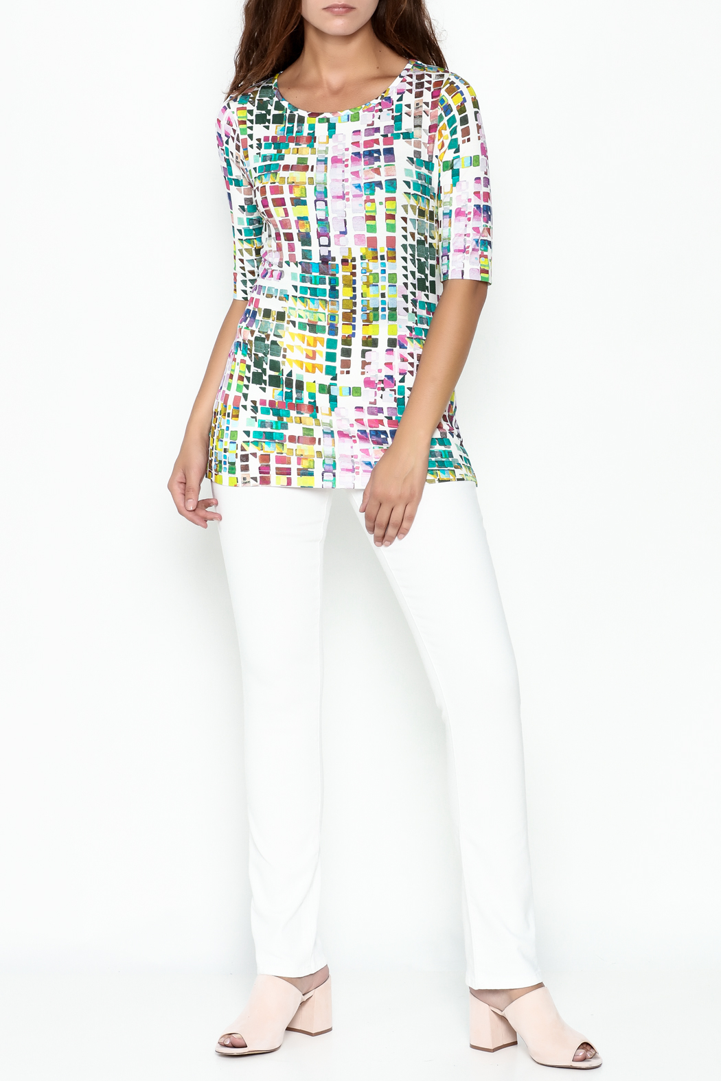 Sno Skins Mosaic Print Top - Side Cropped Image
