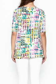 Sno Skins Mosaic Print Top - Back cropped