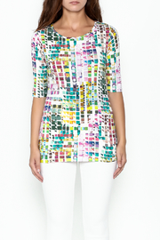 Sno Skins Mosaic Print Top - Front full body