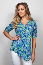 Sno Skins Medallion Print Top - Front cropped