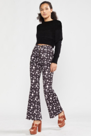 Cynthia Rowley Snow Daisy Printed Bonded Cropped Flares - Product Mini Image