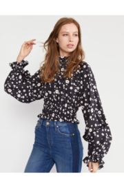 Cynthia Rowley Snow Daisy Smocked Waist Blouse - Product Mini Image