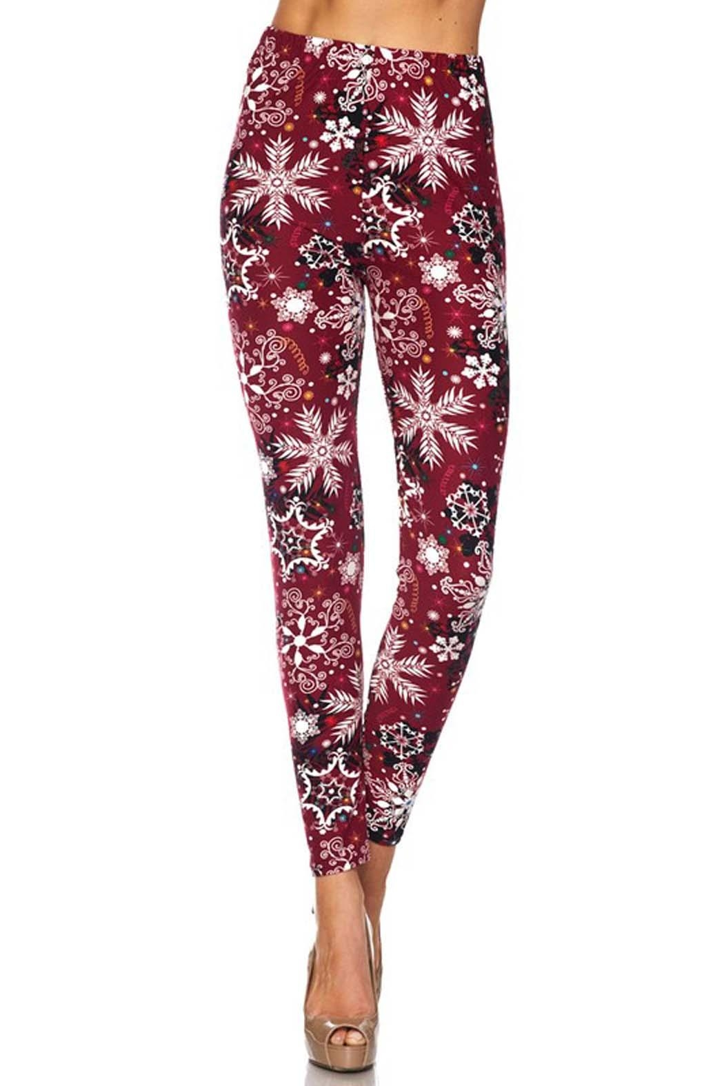 New Mix Snow Flake Legging - Front Cropped Image