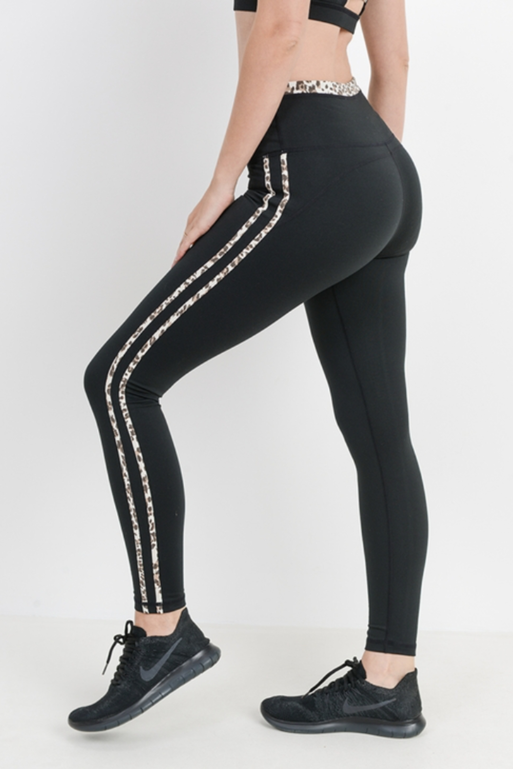 Mono B  Snow Jaguar High Waisted Leggings - Side Cropped Image