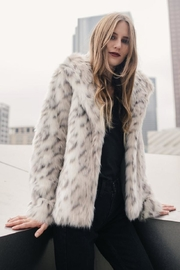 Greylin Snow Leopard Coat - Product Mini Image