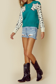 MINKPINK Snow Leopard Contrast Arm Sweater - Other