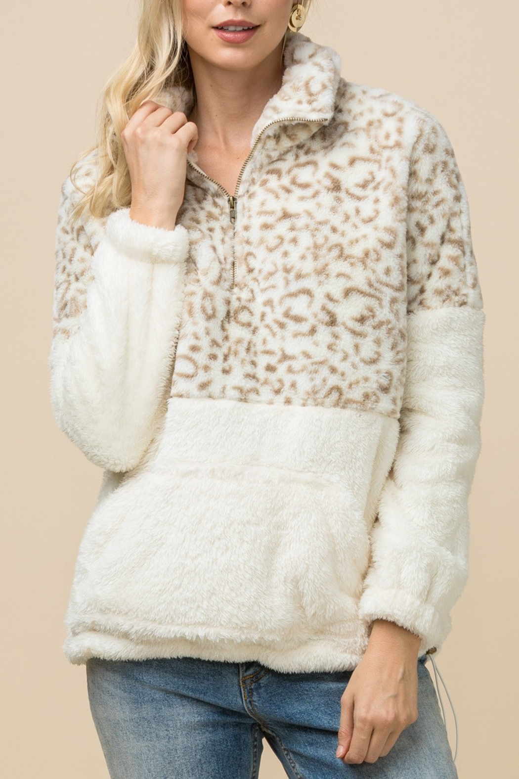 Entro  Snow Leopard jacket - Front Cropped Image