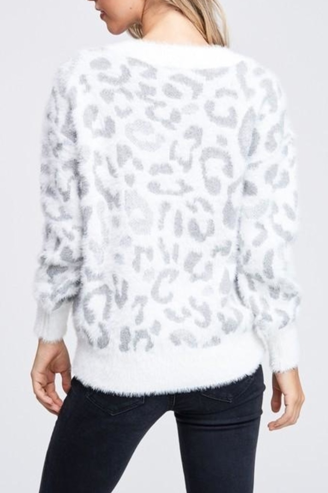 Papermoon Snow Leopard sweater - Front Full Image
