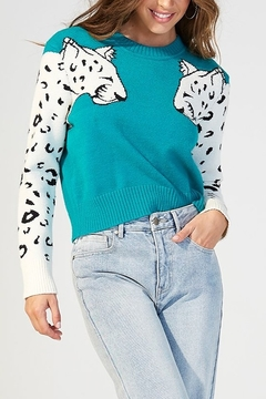 MINK PINK Snow Leopard Sweater - Product List Image
