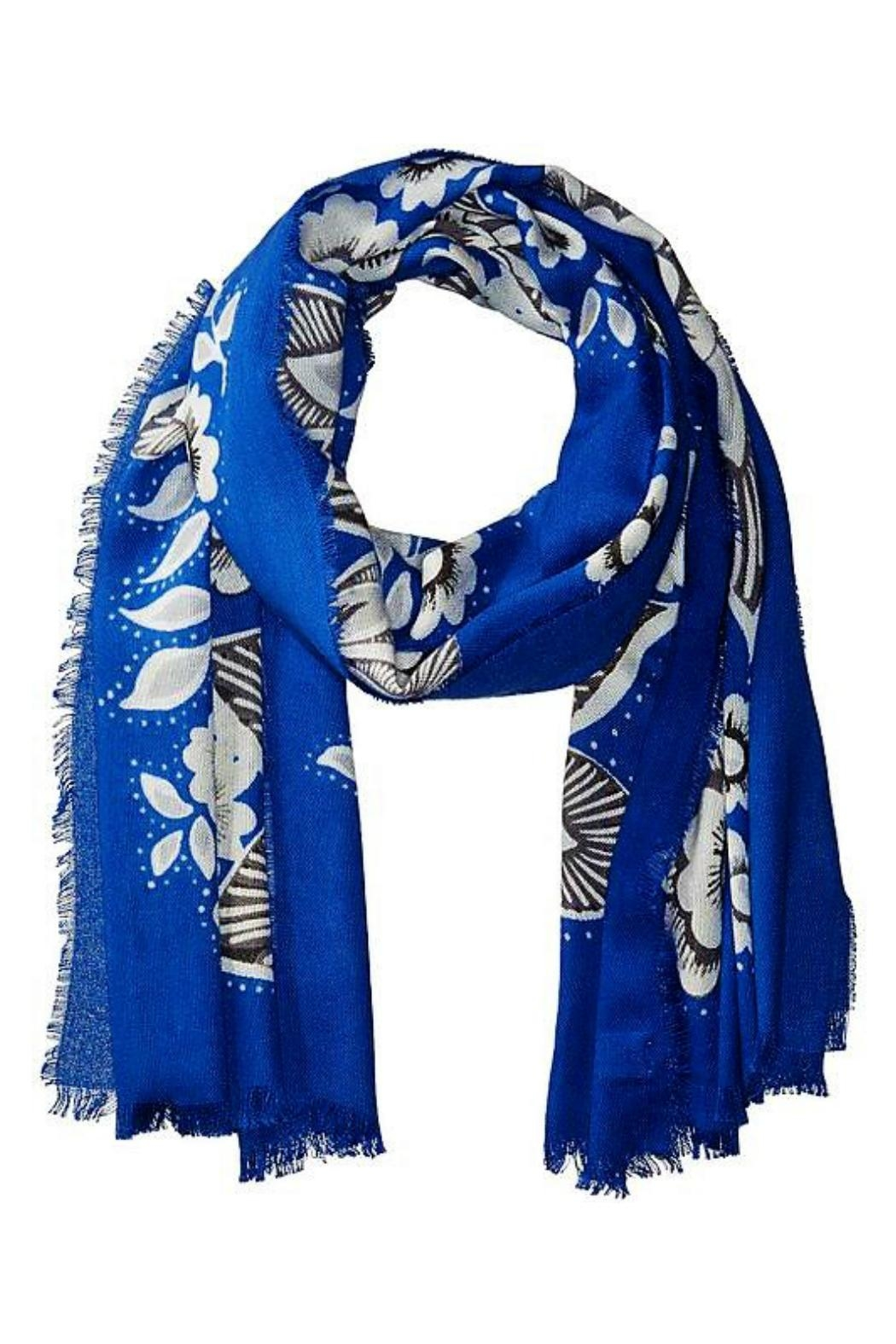 Vera Bradley Snow Lotus Scarf - Front Cropped Image