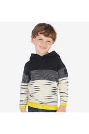 Mayoral Snow Things Hooded Sweater - Front full body