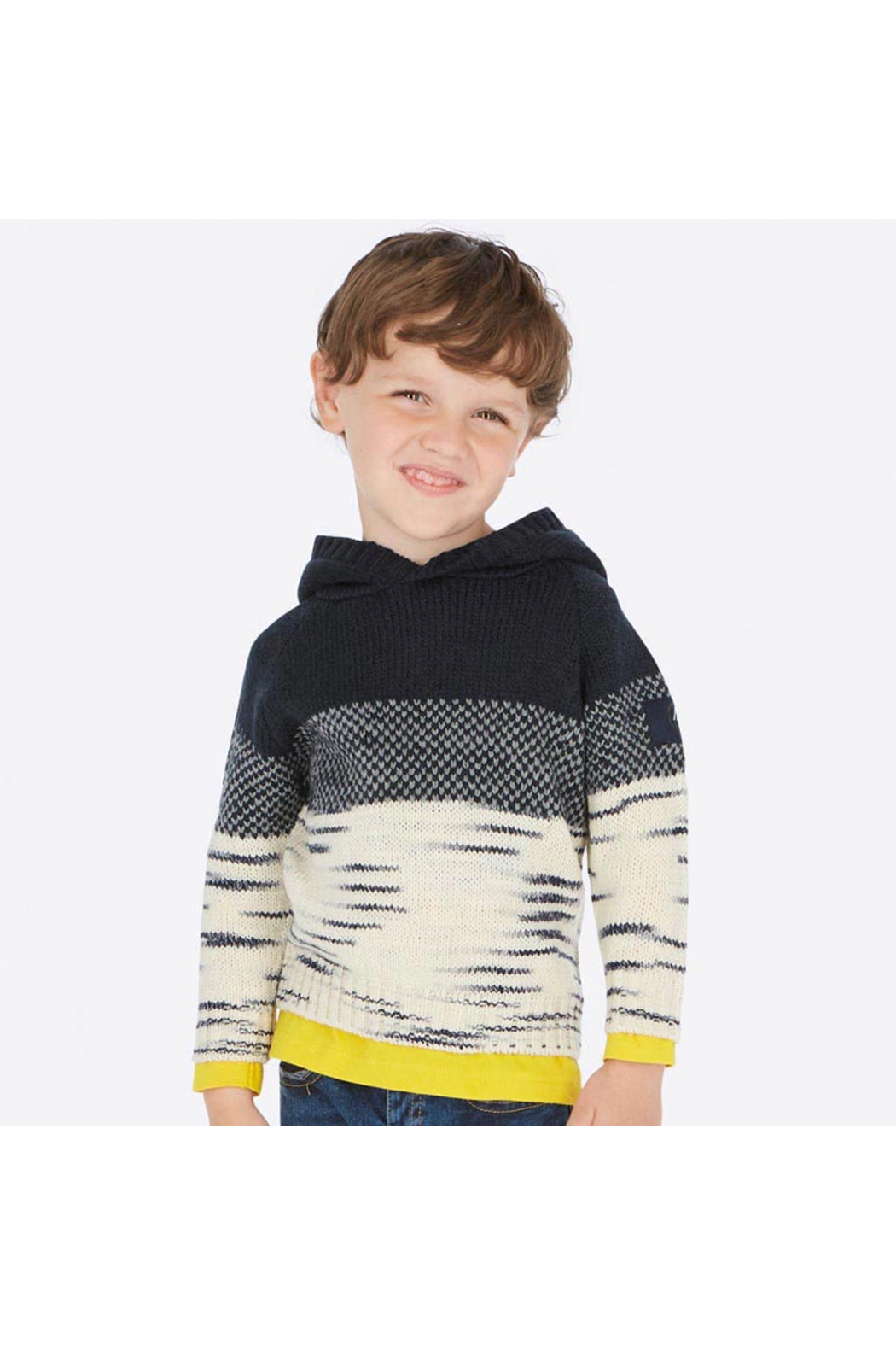 Mayoral Snow Things Hooded Sweater - Front Full Image