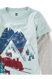 Tea Collection Snow Train Graphic Tee - Back cropped