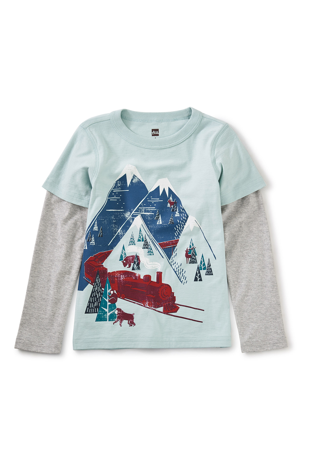 Tea Collection Snow Train Graphic Tee - Front Full Image