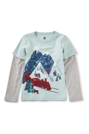 Tea Collection Snow Train Graphic Tee - Front full body