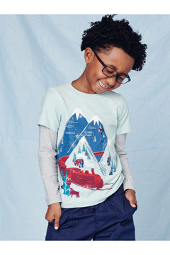 Tea Collection Snow Train Graphic Tee - Product List Image