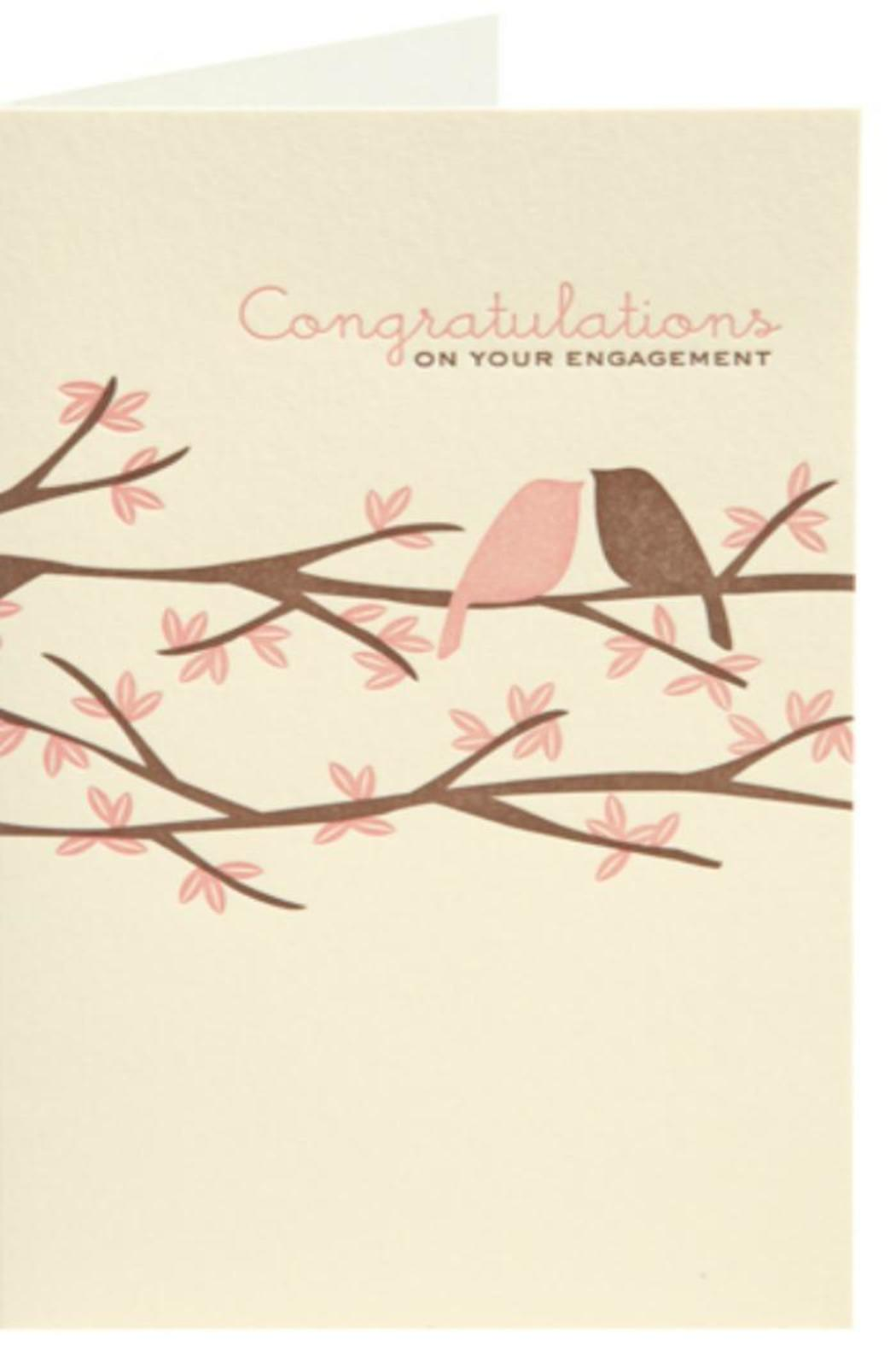 Snow And Graham Engagement Congratulations Card From Orange County