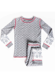 PJ Salvage Snowed in Kids Jammie Set - Front cropped