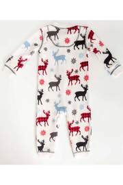 PJ Salvage Snowed Infant Romper - Front full body
