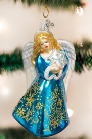 Old World Christmas Snowflake Angel Ornament - Front cropped