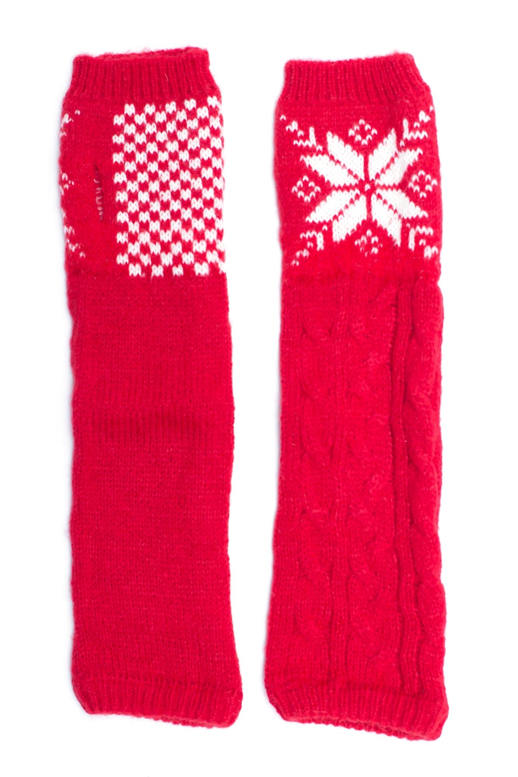 Urbanista Snowflake Arm Warmers - Front Cropped Image